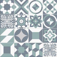 Adesivo para Azulejo - Hidráulico 02 - Mint