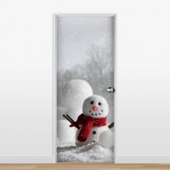 Adesivo para Porta Boneco de Neve