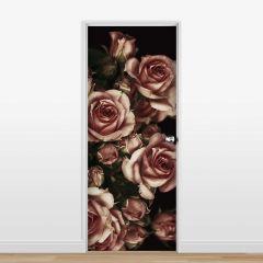 Adesivo para Porta Roses Dark
