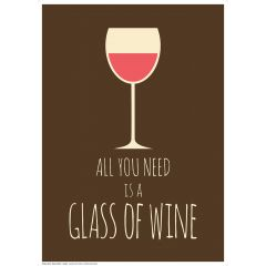 Poster All You Need - Wine