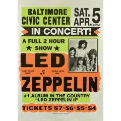 Poster Led Zeppelin in Concert