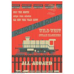 Poster Retro Railroad
