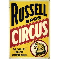 Poster Russel Bros Circus