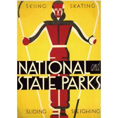 Poster Skiing Skating