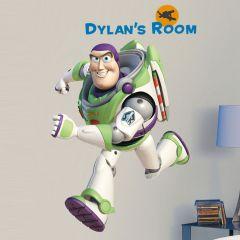 Adesivo Buzz Lightyear com Alfabeto - Disney