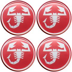 Emblema Adesivo Calota Abarth - Kit 4 Unid