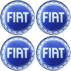Emblema Adesivo Calota Fiat Azul