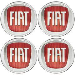 Emblema Adesivo Calota Fiat Vermelho
