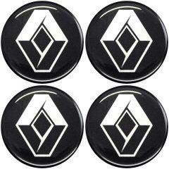 Emblema Adesivo Calota Renault - Kit 4 Unid