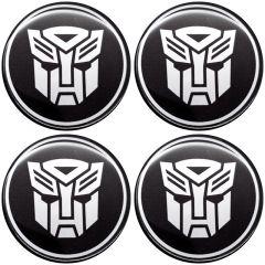 Emblema Adesivo Calota Transformers - Kit 4 Unid