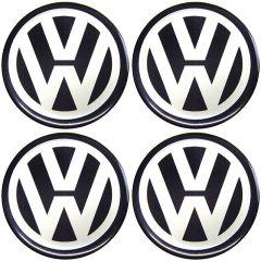 Emblema Adesivo Calota Volkswagen - Kit 4 Unid