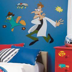 Adesivo Agente P e Dr. Doofenshmirtz - Disney