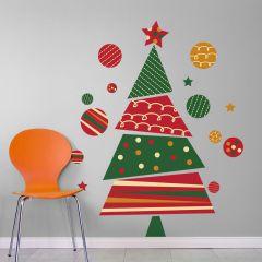 Adesivo de Parede Árvore de Natal Joy