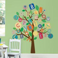 Adesivo Removível Árvore Gigante ABC Colorido