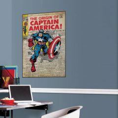 Adesivo Capitão América Capa Quadrinho