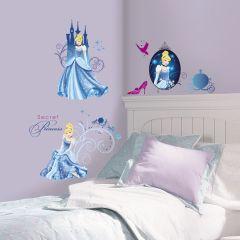 Adesivo Cinderela Glamour Cartela - Disney