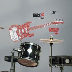 Adesivo Removível Guitarra Rock