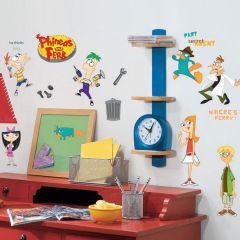 Adesivo Phineas e Ferb Cartela - Disney