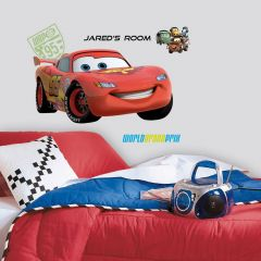 Adesivo Lightning McQueen Gigante com Alfabeto - Disney
