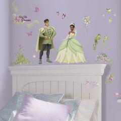 Adesivo A Princesa e o Sapo com Borboletas 3D - Disney