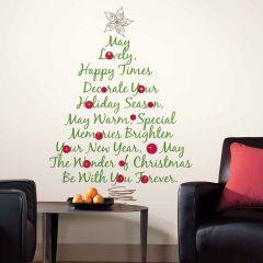 Adesivo Removível Árvore de Natal Frases