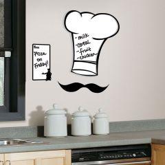 Adesivo Removível Lousa Chapéu do Chef