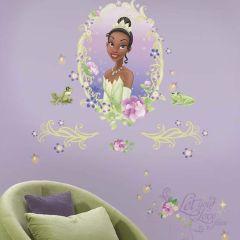 Adesivo Medalhão A Princesa e o Sapo com Borboletas 3D - Disney
