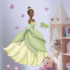 Adesivo Princesa Tiana com Borboletas 3D - Disney