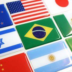 Adesivo Resinado Bandeira Países / Estados