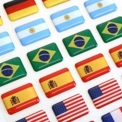 Adesivo Resinado Bandeira Placa / Adega - Kit 4 Unid