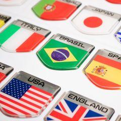 Adesivo Resinado Escudo Emblema Bandeira Badge