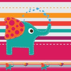 Border Adesivo Happy Elephant