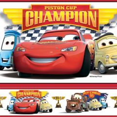 Border Removível Cars Piston Cup Champions - Disney