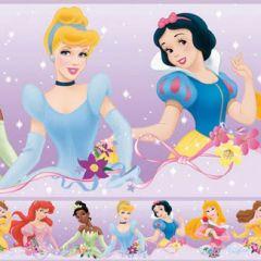 Border Removível Princesas Dream From the Heart Roxo - Disney