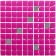 Pastilha Adesiva Resinada - Classic Pink / Prata
