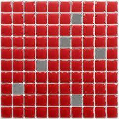 Pastilha Adesiva Resinada - Classic Vermelha / Prata