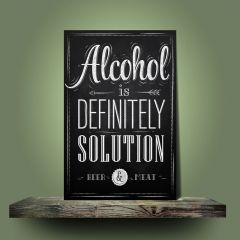 Placa Alcohol is Solution