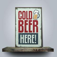 Placa Cold Beer Here