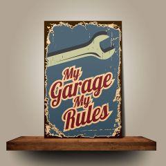 Placa My Garage My Rules