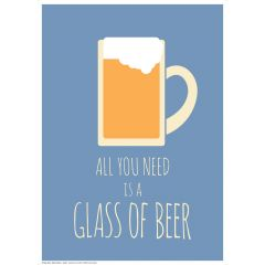 Poster All You Need - Beer