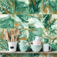 Revestimento Adesivo Blocos Marble Green
