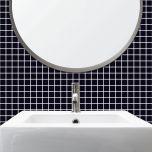 Adesivo para Azulejo - Pastilha Lisa Preta
