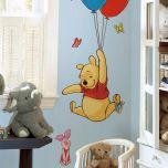 Adesivo Ursinho Pooh e Leitão - Disney