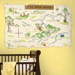 Adesivo Mapa Ursinho Pooh - Disney