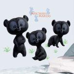 Adesivo Três Irmãos Ursos Valente - Disney