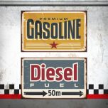 Placa Gasoline / Diesel