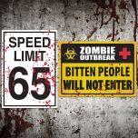 Placa Speed Limit / Zombie Outbreak