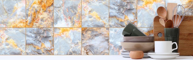 Adesivos de Azulejo Mármore, Concreto e outras texturas